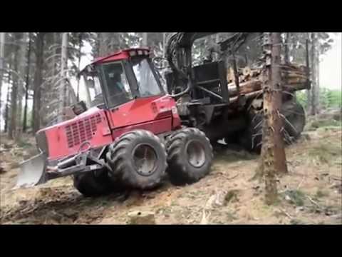 Amazing Modern Mega Machines Unusual Woodwork Sawmill Wood Timber Tractor Cleaver Saw CNC