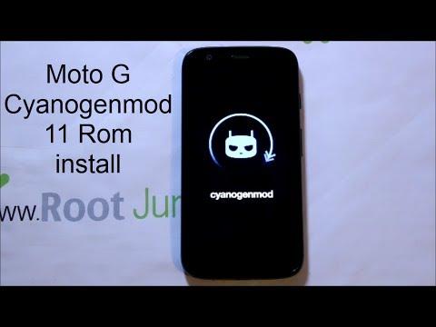 Moto G CyanogenMod 11 KitKat 4.4 rom install
