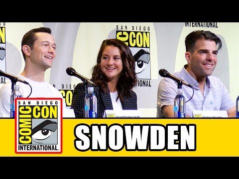SNOWDEN Comic Con Panel - Joseph Gordon-Levitt, Shailene Woodley, Zachary Quinto, Oliver Stone