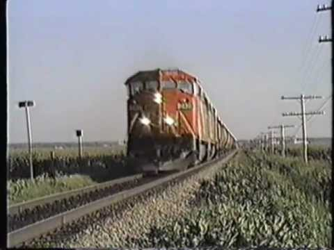CN Action in the Drummondville Quebec area; 1990