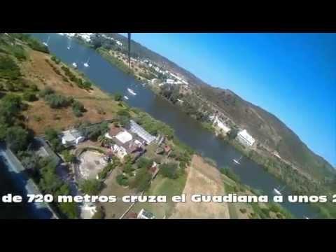 Tirolina en Sanlucar del Guadiana, 18 de Mayo 2014