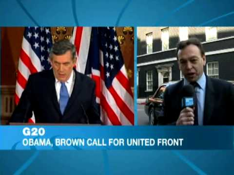 G20: Obama, Brown call for united front