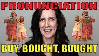 PRONUNCIATION: Como pronunciar BUY, BOUGHT, BOUGHT!!! | Profa. Érika de Pádua #dicadeinglês
