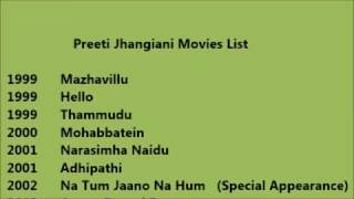 Preeti Jhangiani Movies List