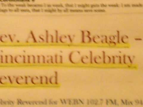 Rev  Robert Ashley Beagle Celebrity Reverend