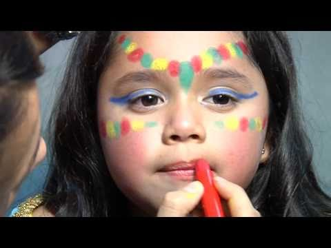 Maquillage Chat Fille : maquillage des enfants inde youtube ~ Dallasstarsshop.com Idées de Décoration