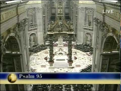 Blessed Pope John Paul II Celebrates His Final Christmas Mass At Midnight, December 25, 2004