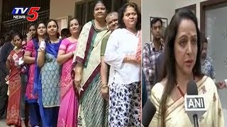 Hema Malini Speaks to Media | Lok Sabha Election Phase 2 Voting