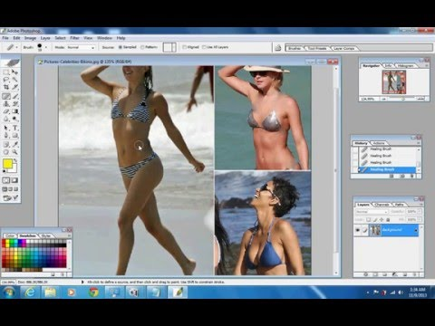Removing A Bra Using Photoshop video