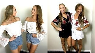 Fashion Haul Summer 2017! | The Rybka Twins