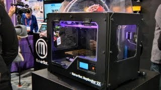 CES 2013_ MakerBot Industries Replicator 2X 3D Printer