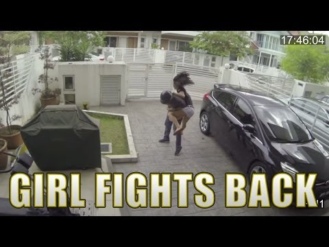 (Original) Girl fights back snatch thief with a knee to the stomach