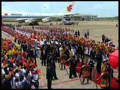 CHINA PRESIDENT ARRIVAL IN SRI LANKA