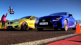 Drag Race Between BMW M4 & Lexus RC-F (1/3) - Fifth Gear