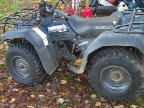 how to change oil on suzuki 400 quad