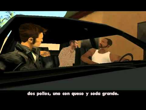 CARL JOHNSON,CLAUDE,TOMMY  Y NICO BELLIC VAN A COMER