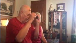 My Grandpa Trying Enchroma Color Blind Glasses for the First Time REACTION!! SURPRISE!! TEARS!!