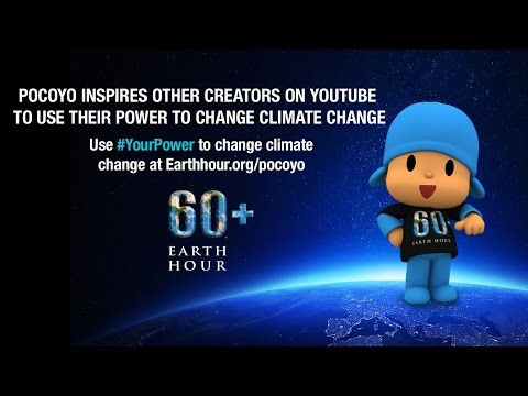 Pocoyo joins other YouTube creators to change climate change Earth Hour 2015 #YourPower