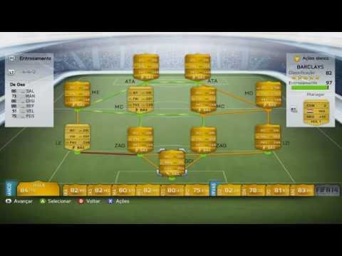 Fifa 14 Ultimate Team - Testando um time da Barclays/Ultimo vídeo de Fifa 14 do canal - PT BR