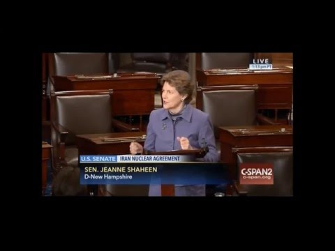 On Senate Floor Shaheen Discusses Need to Support IAEA to Implement Iran Nuclear Agreement