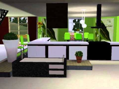 Sims 3 modern house interior design ideas youtube for Best house designs for the sims 3
