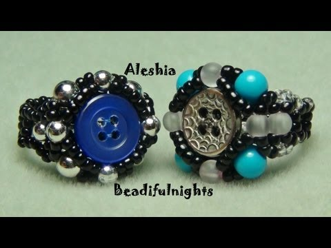 Beaded Button Ring Tutorial