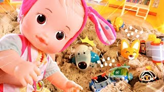 콩콩이 뽀로로 폴리 친구들 모래놀이 거품목욕 Chloe Pororo Robocar Poli Friends Sand play Bath play - TT TOY[티티토이]