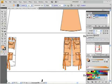Adobe Illustrator Clothing Design in Adobe Illustrator for