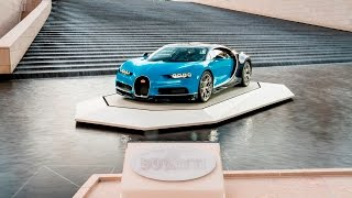 The BUGATTI Chiron at the Fondation Louis Vuitton in Paris.