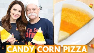 CANDY CORN THEMED PIZZA w/ my Dad! by : Rosanna Pansino