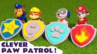 Paw Patrol Play Doh Badges and Logos - Toy stories with Funlings and Thomas Trains TT4U