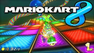 Mario Kart 8 RAINBOW ROAD gameplay! - w/ Ali-A! - NEW Track & N64! - (MK8 Wii U)