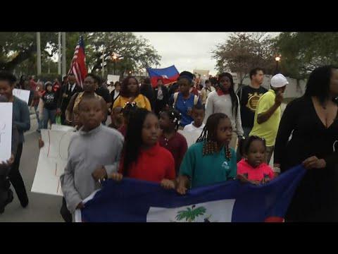 Fla. Haitians Recall Quake, Protest Trump Insult