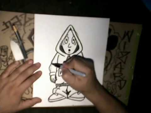 Step by step Drawing A Character - (Drawing lessons) by wizard - (Ha Ha Ha ) Techno Song