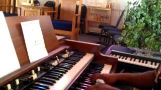 Hallelujah you're worthy, judith mcallist on organ