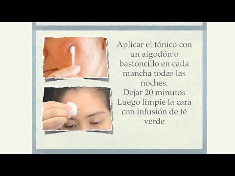 Tónico para manchas oscuras de acné, paño, pecas.  Ecodaisy