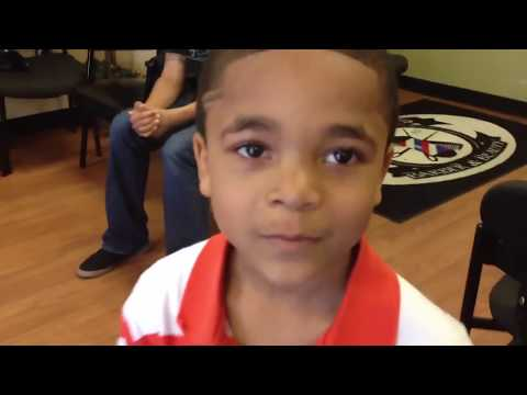 Elijah wins barbershop BACKFLIP contest