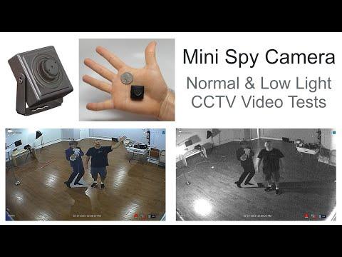Mini Covert CCTV Spy Camera with Pinhole Lens Surveillance Video