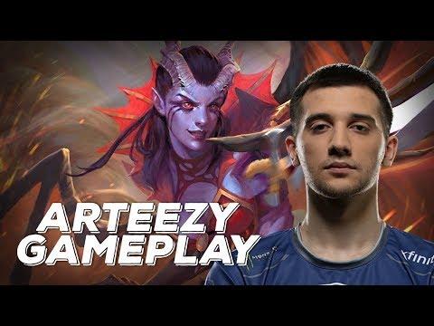 Arteezy playing Queen of Pain (Gameplay)