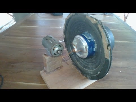 Power generator, how to make generator using 15cm speaker