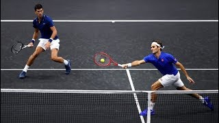 Federer/Djokovic vs Sock/Anderson - Laver Cup 2018 Highlights (HD)