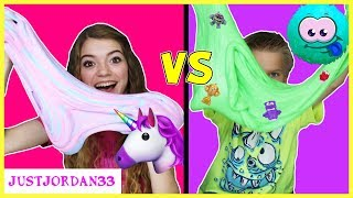 Unicorn Slime vs Monster Slime