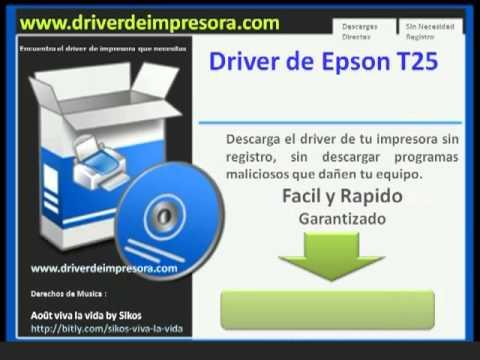 Descargar Driver de Impresora Epson T25