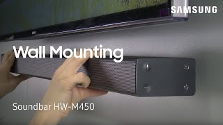 How To Wall Mount Your HW-M450 Flat Soundbar | Samsung US