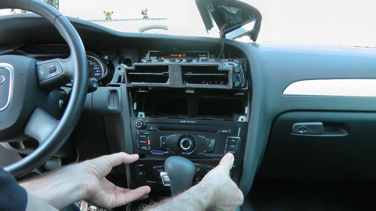 Audi A4 8k Mmi Zemex Freisprecheinrichtung Youtube