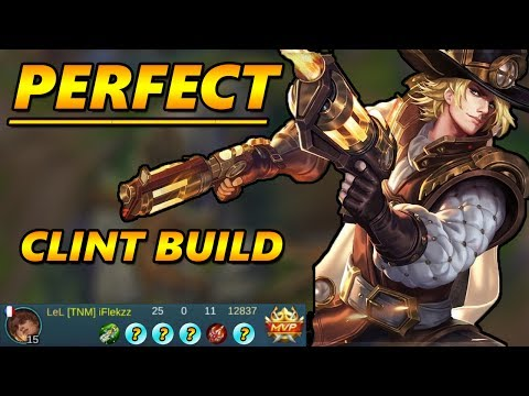 BEST CLINT BUILD TO DO INSANE DAMAGE! MOBILE LEGENDS GAMEPLAY