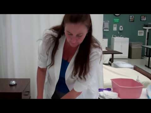 CNA ESSENTIAL SKILLS - Catheter Care for Female (6:54)