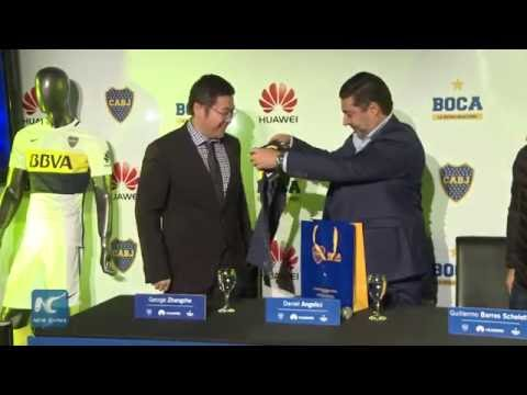 Chinese telecom giant Huawei becomes sponsor for Boca Juniors