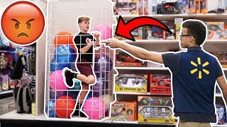 JUMPING IN THE BALL PIT AT WALMART! *KICKED OUT*