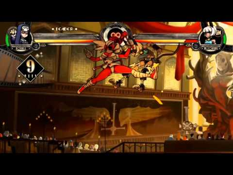 SKULLGIRLS: Double combo for light characters (6337 damage (140% meter gain))